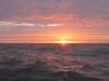 Zachód słońca na kanale La Manche