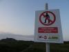 Ostrzeżenie przed wejściem na teren strzelnicy