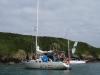 Na kotwicy w zatoczce Petit Port na Guernsey