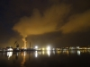 Przemysłowy port w Avilés nie jest zbyt zachęcający