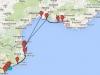 Z Barcelony do Marsylii - trasa rejsu ze Sławkiem