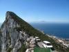 Ze szczytu gibraltarskiej skały widać Maroko