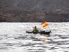 Kajakarz w główkach portu Cartagena