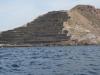 Opuszczamy Cartagenę - kamieniołom na wyjściu z zatoki