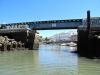 Mostek kolejowy w Faro przy odpływie