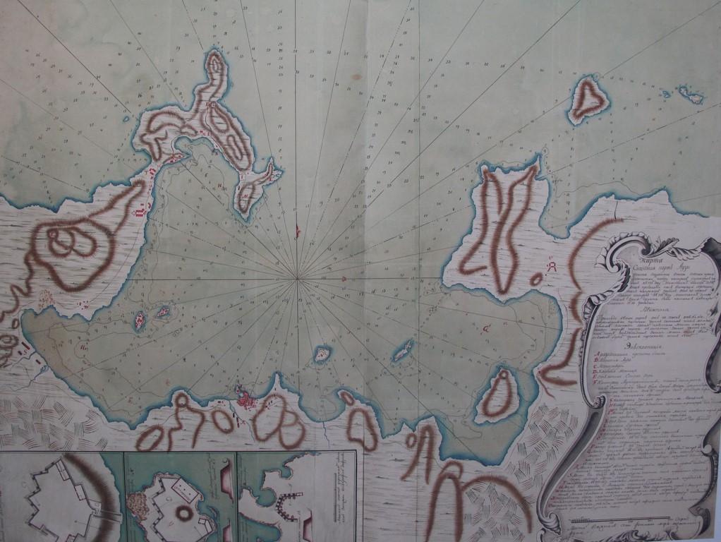 XVIII wieczna mapa Zatoki Naoussa z pamiętnika rosyjskiego oficera