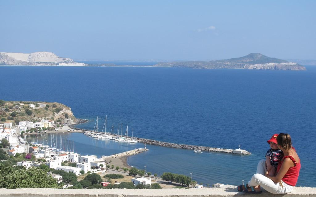 Panorama portu Pali na Nisiros