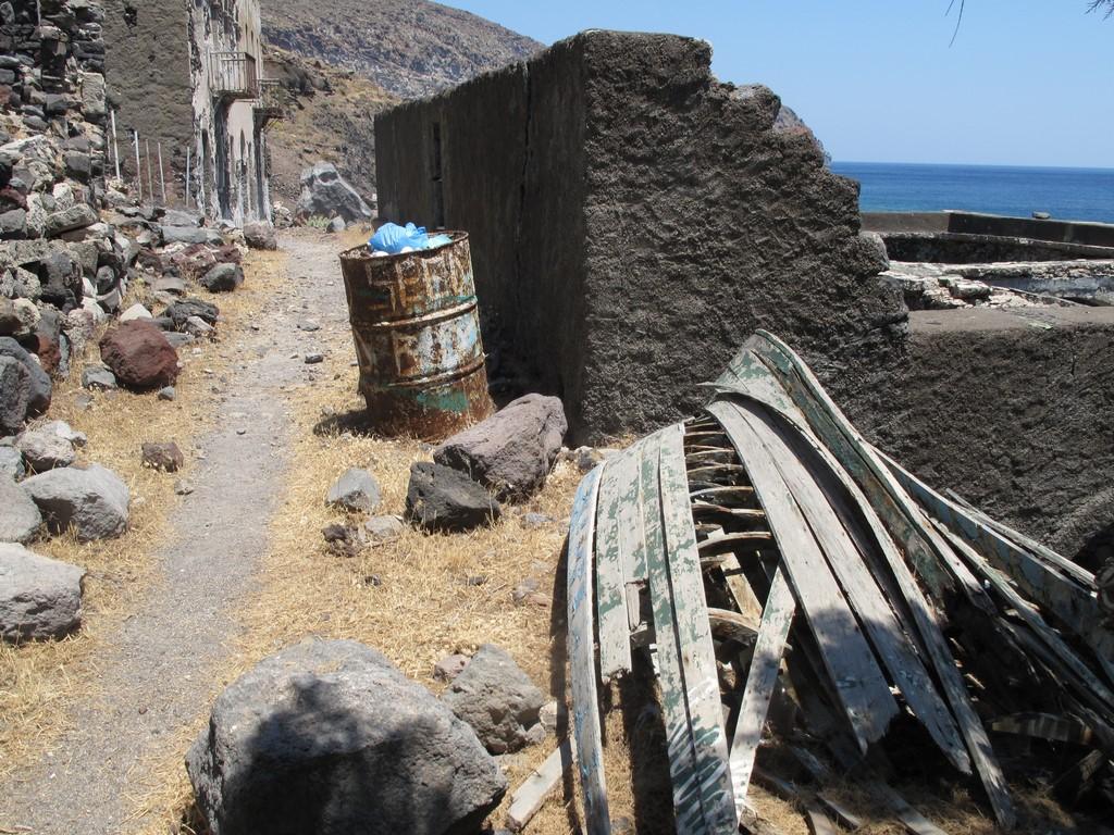 Opuszczona wioska Avlaki na Nisiros