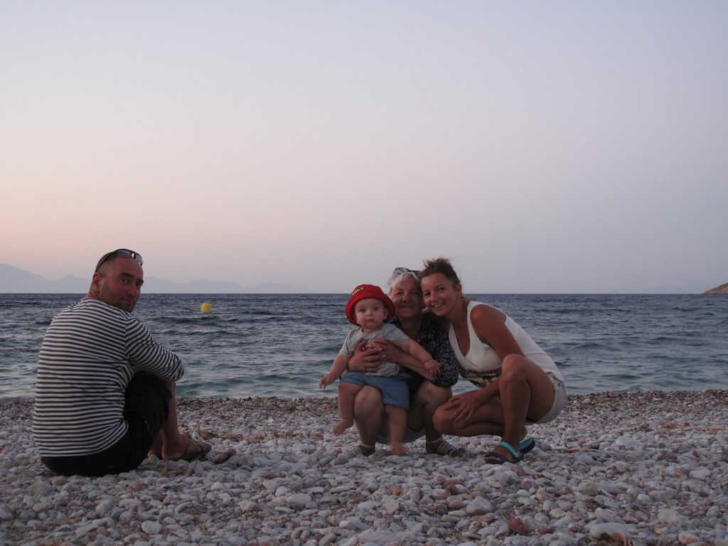 Plaża Livadia na wyspie Tilos