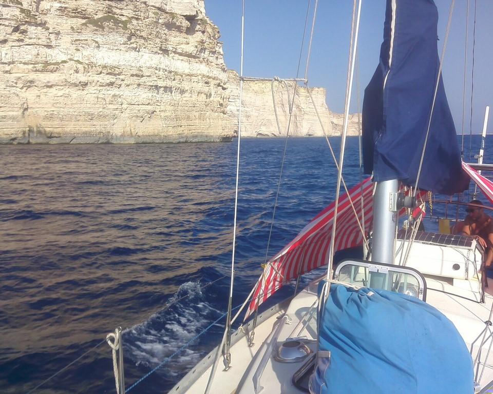 Żeglujemy wzdłuż Gozo