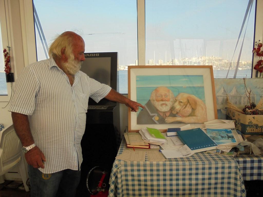 Stary Bosman w Marinie del Sole w Cagliari