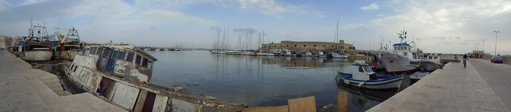 Trapani - panorama portu
