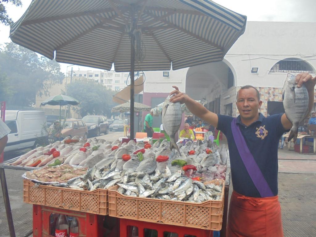 Owoce morza w Mohammedia