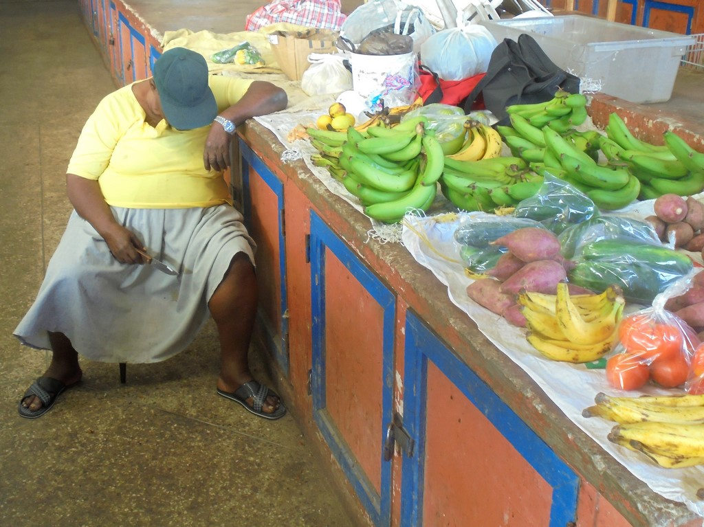 Targowisko w Castries