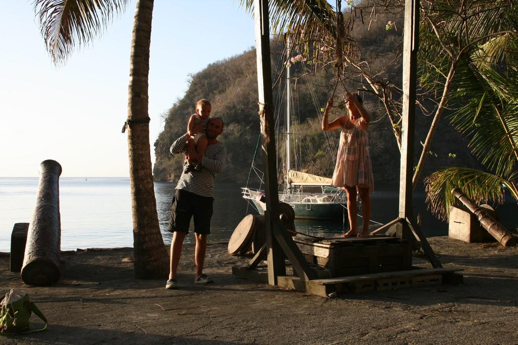 Rodzinne chwile w Wallilabou Bay
