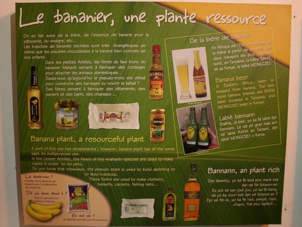 Tablica z Muzeum Bananów