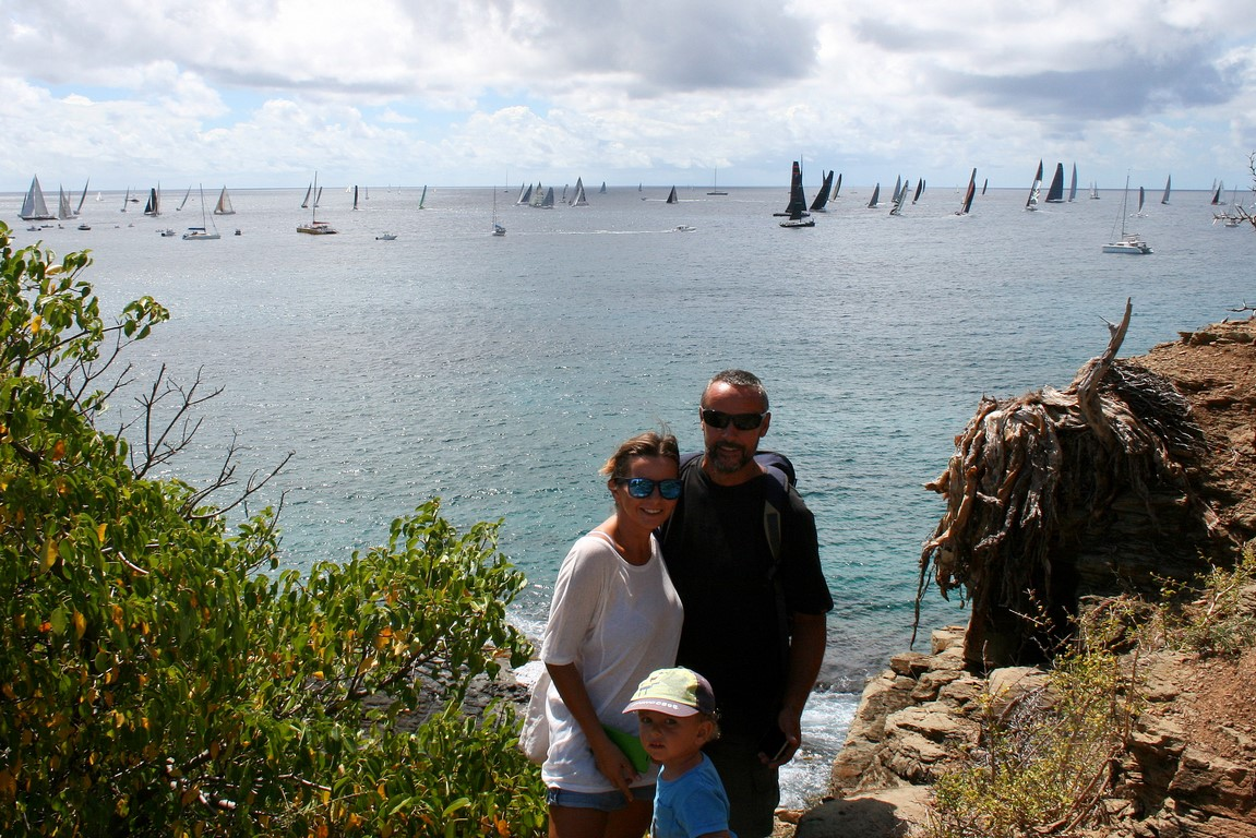 Z Leszkiem na Antigua