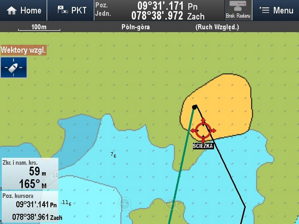 Według GPS kotwiczymy na Orduptarboat