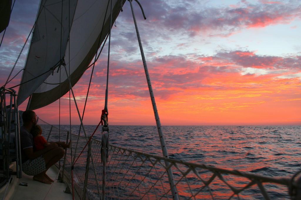 Zachód słońca na Pacyfiku