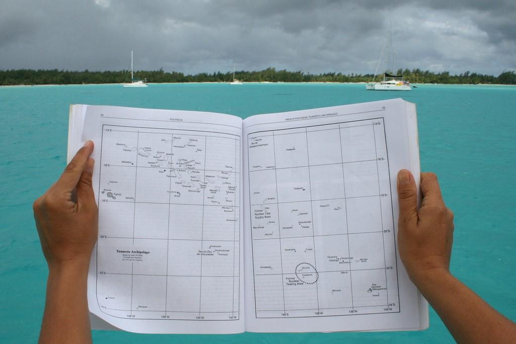 Mapa archipelagu Tuamotu