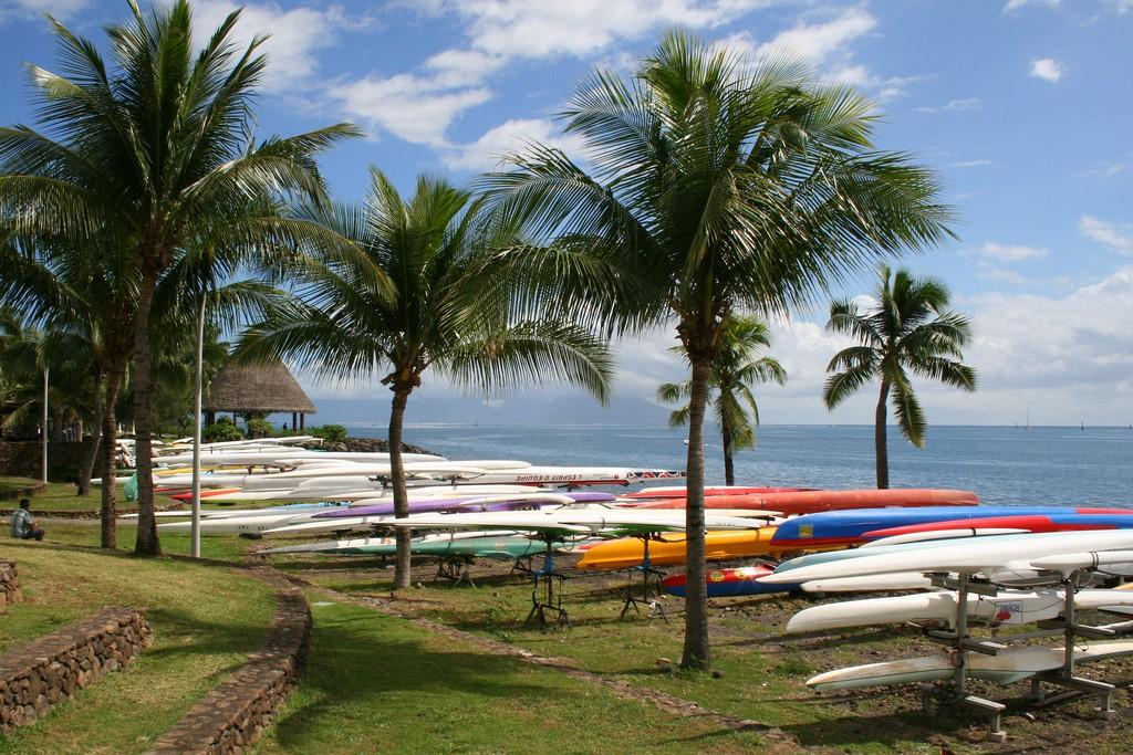 Dwukadłubowe Va'a na Tahiti