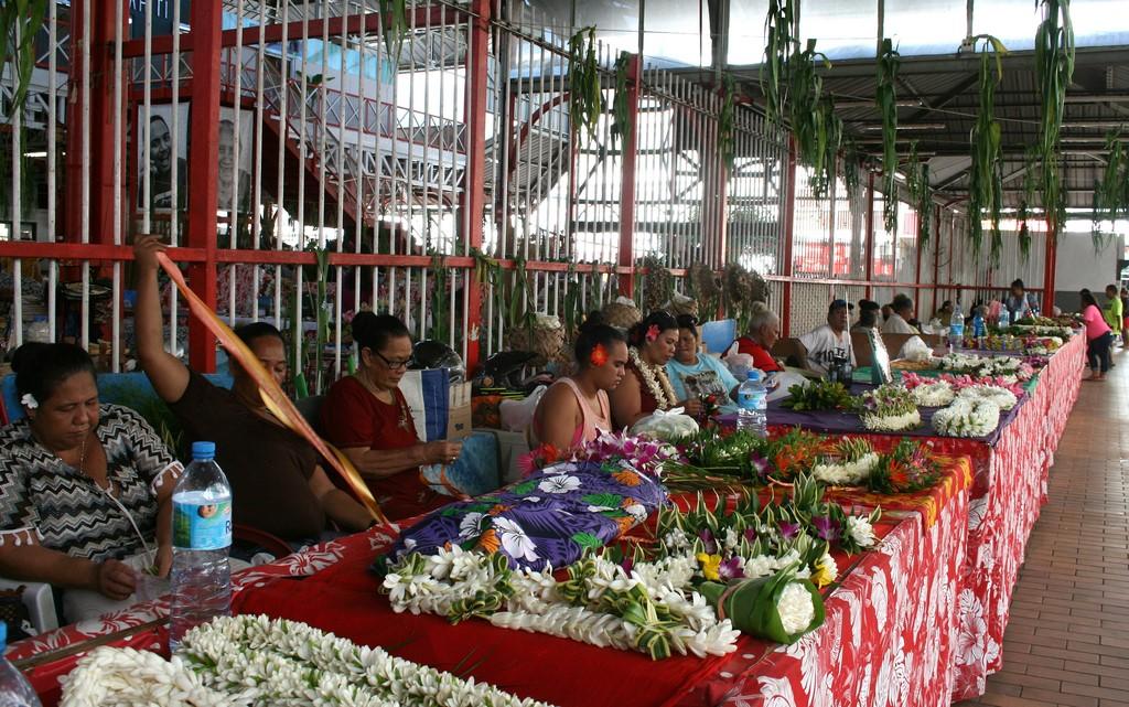 Targ kwiatowy w Papeete na Tahiti
