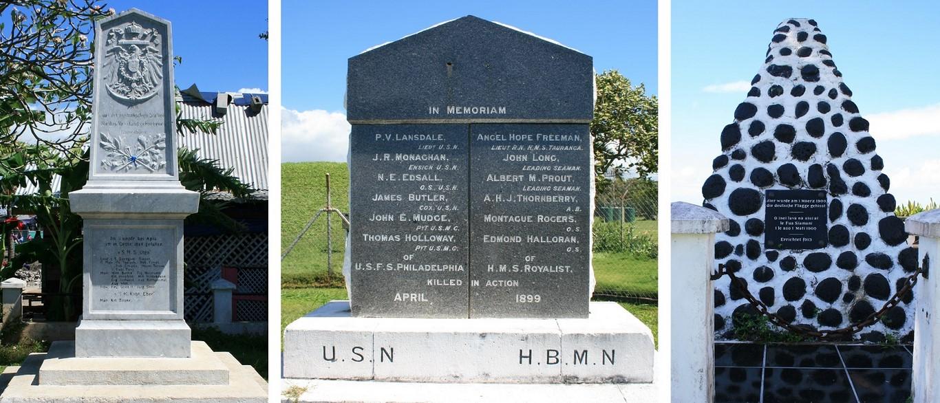 Pamiątki po kolonizatorach. Niemieckie, brytyjskie i amerykańskie pomniki na Samoa.