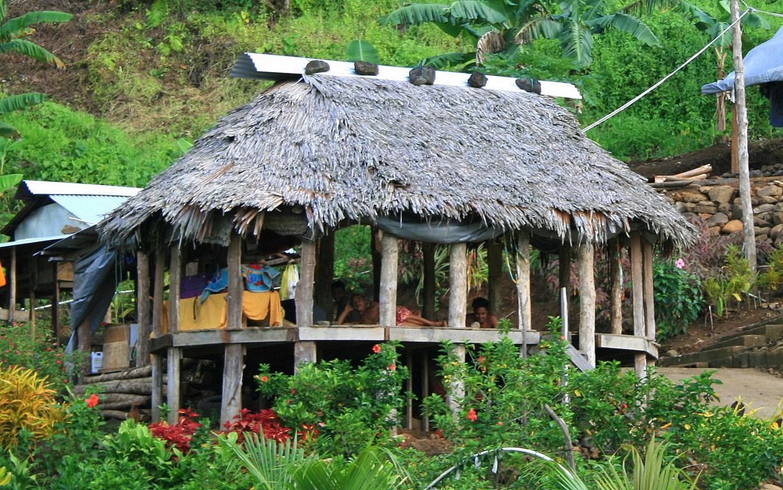 Tradycyjny samoański dom otwarty