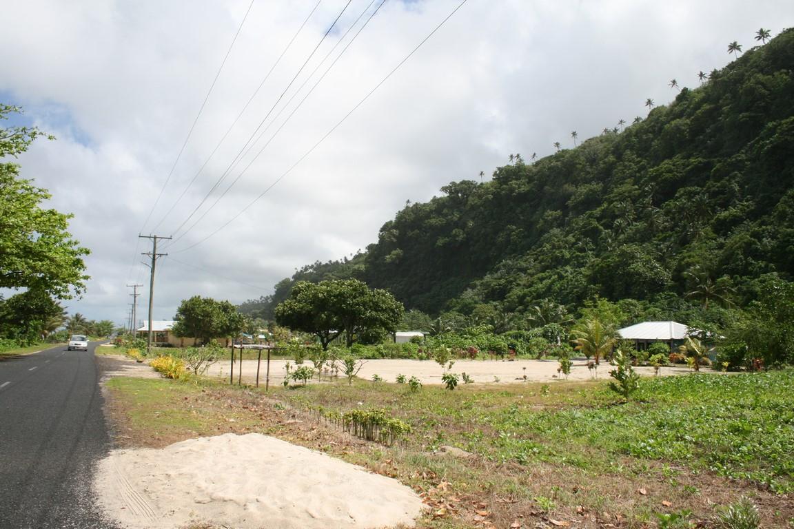 Wioska Saleapaga zniszczona przez tsunami