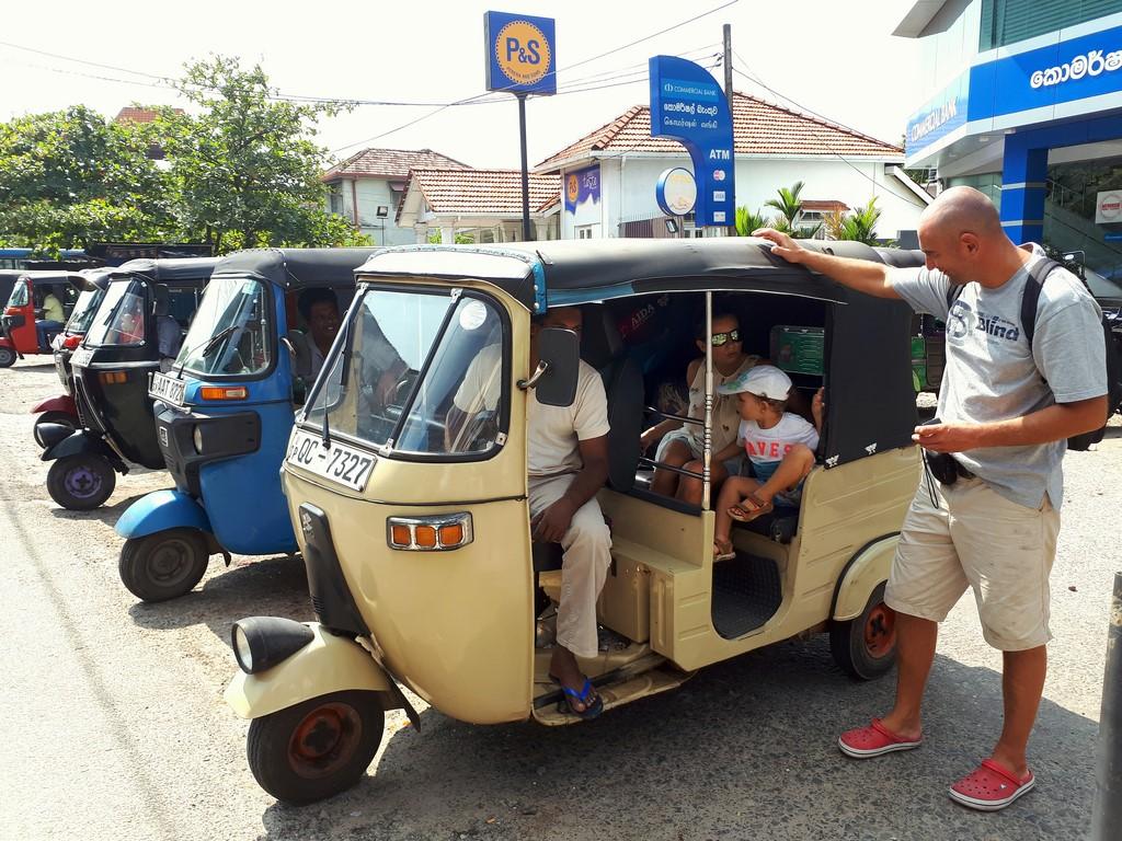 Tuktuk w Galle