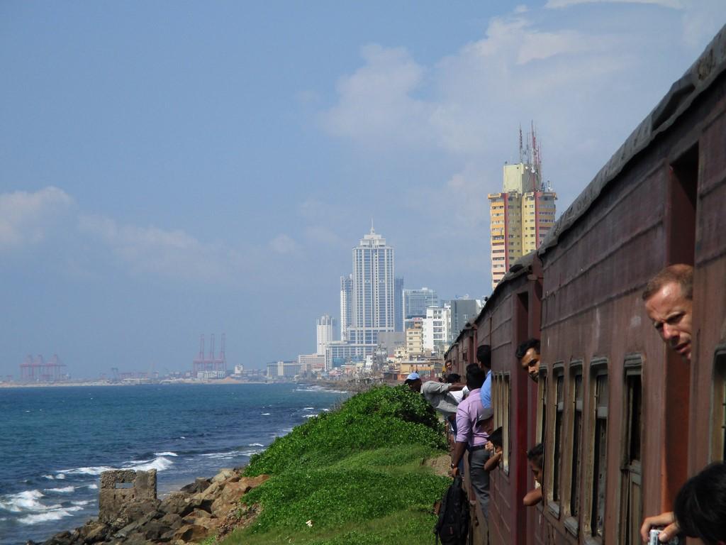 Wypadek na kolei przed Colombo
