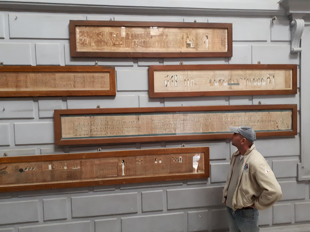 Papirusy w Muzeum Egiptu