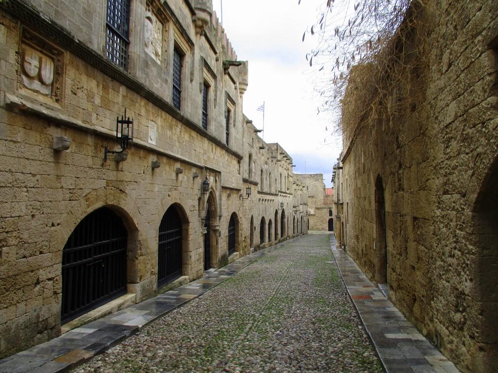 Ulica rycerska w zamku Rodos