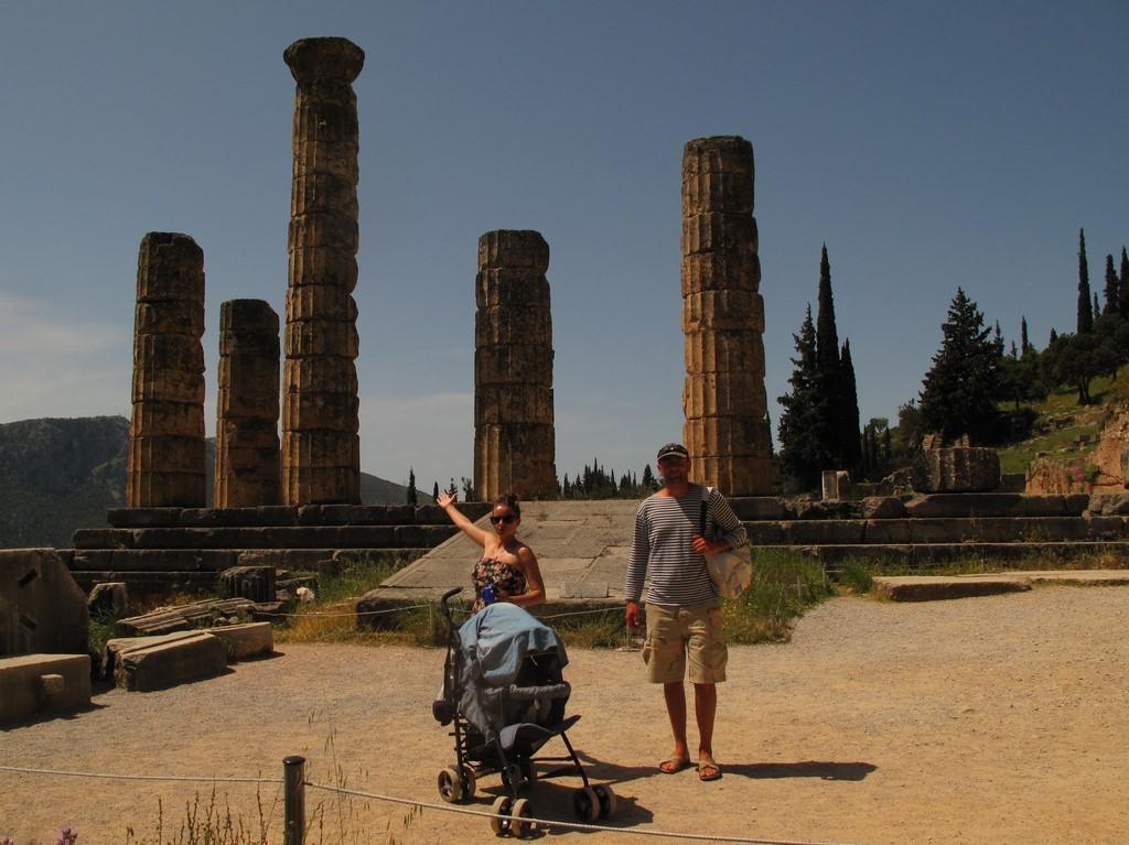 Świątynia Apollina w Delfach trzy lata temu
